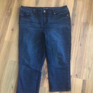 Seven7 skinny crop jeans